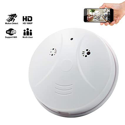 Yumfond Spy Hidden Camera, WiFi Smoke Detector Cam, HD 1080 Motion Detection Night Vision