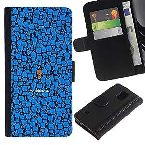 """JackGot ( Lindo - Ser Diferente"""" ) Samsung Galaxy S5 V SM-G900 la tarjeta de Crédito Slots PU Funda de cuero Monedero caso cubierta de piel"""