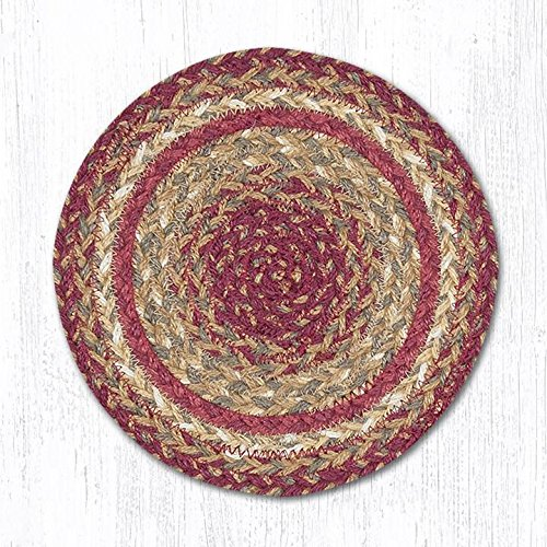 Capitol Importing 46-991 Scarlet Miniature Swatch Round Rug44; 10 in. from Capitol Importing