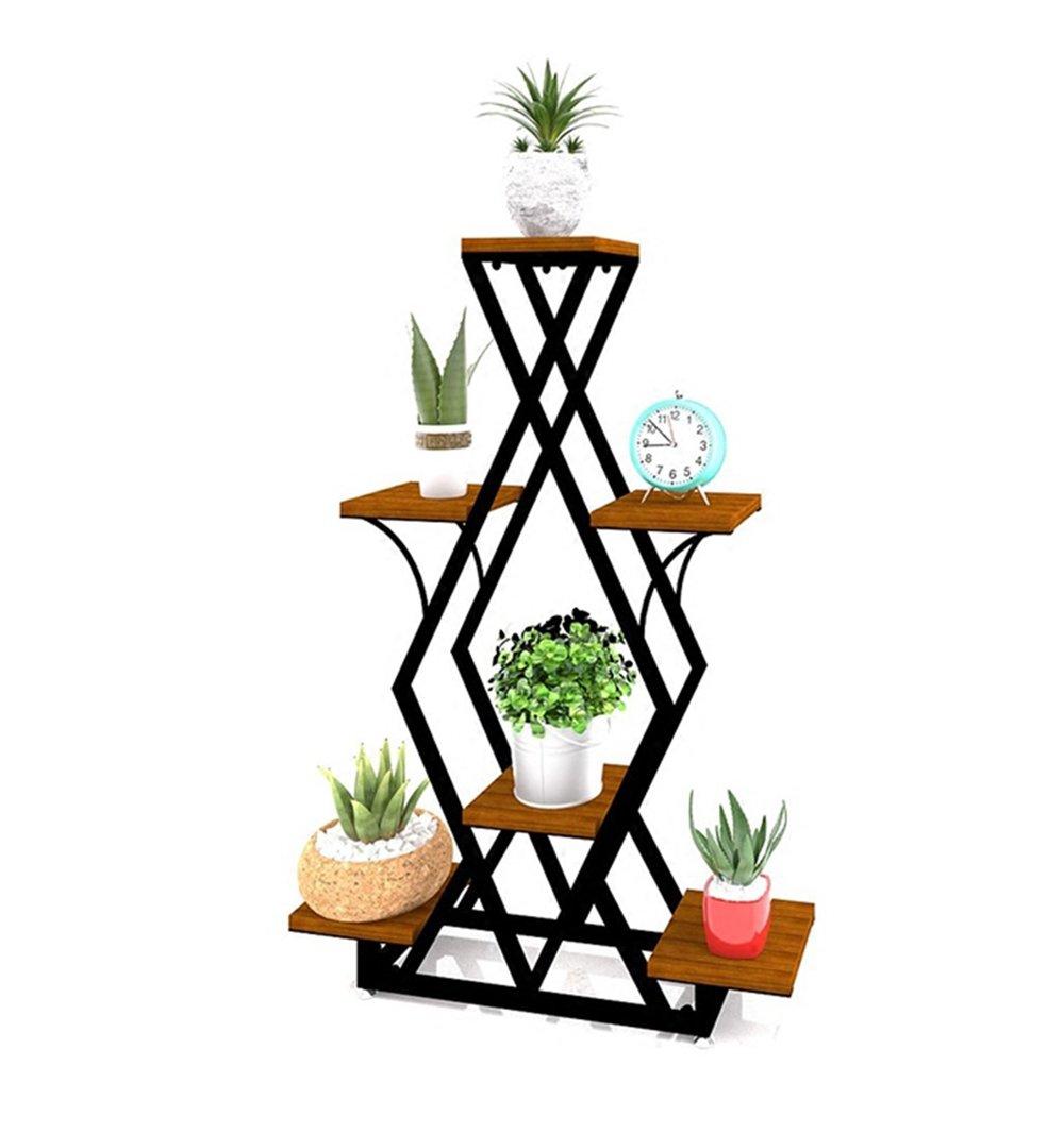 Sconto del 40% Cornice floreale   Stand per piante all'aperto     Espositore per fiori in ferro e scaffale per piante in legno massello da interno   esterno Espositore per piantane da pavimento con piantana e fioriera  marca