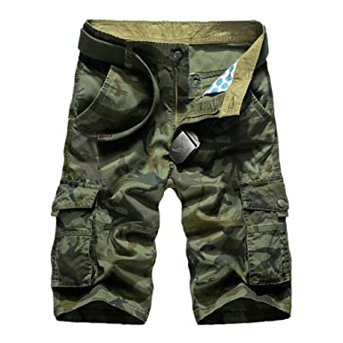 a4e76e31af Uwback Mens Cargo Shorts Loose Fit Camouflage Multi Pocket Casual Short  Army Green US 27,
