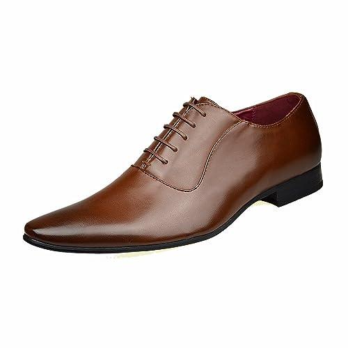 ClassyDude - Zapatos Planos con Cordones hombre , color negro, talla 41.5