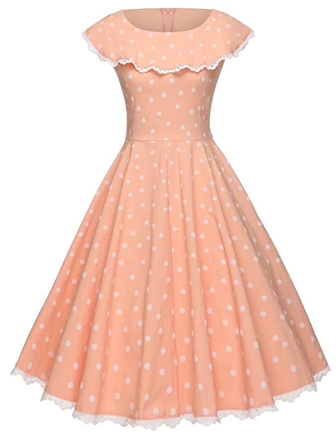 500 Vintage Style Dresses for Sale | Vintage Inspired Dresses GownTown Vintage Polka Dot Retro Cocktail Prom Dresses 50s 60s Rockabilly Dresses $35.99 AT vintagedancer.com