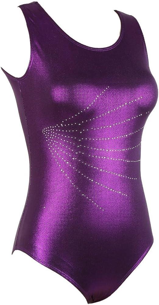 Sparkle Sleeveless Gymnastics Leotards for Women Adults Girls Ballet Dancwear: Clothing