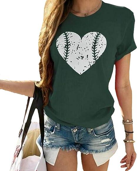 ZAWAPEMIA Womens Round Neck FIND Youd Road Print Tops Cuffed Sleeve T Shirt