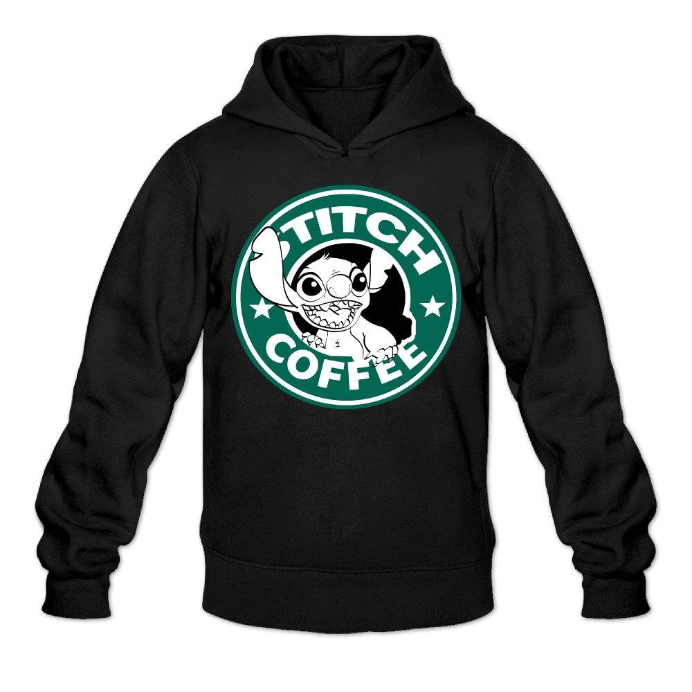 YQUE Mens Cartoom Role Coffee Hoodies Sweatshirt Black