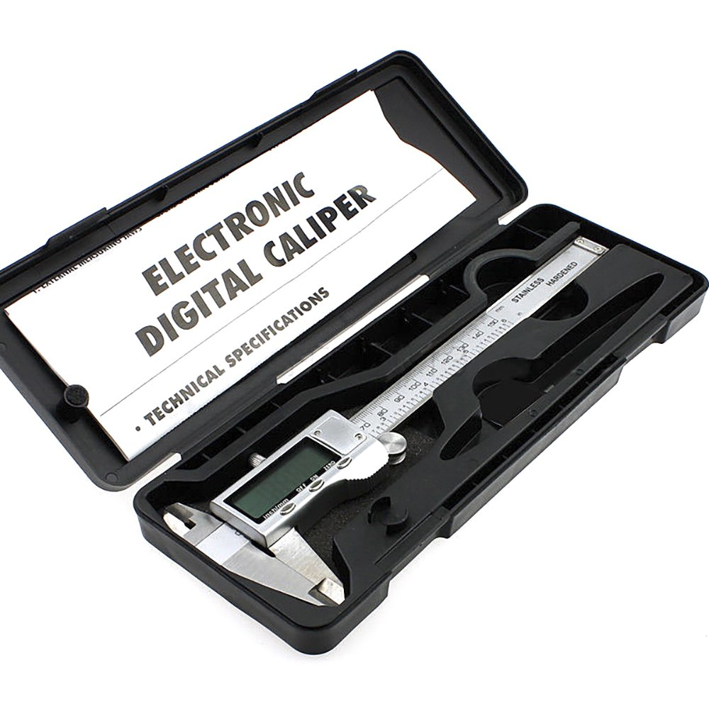 XYXDI 150mm/6-inch Stainless Steel Electronic Digital Vernier Caliper Micrometer by XYXDI (Image #1)