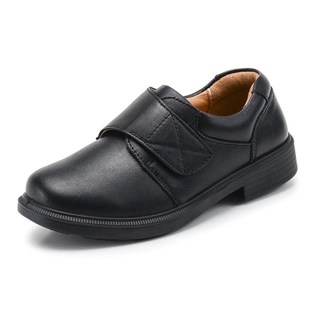 Boys Monk-strap Hook and Loop School Uniform Oxford Dress Shoes #2 Black Tag 38 - 5 M US Big Kid