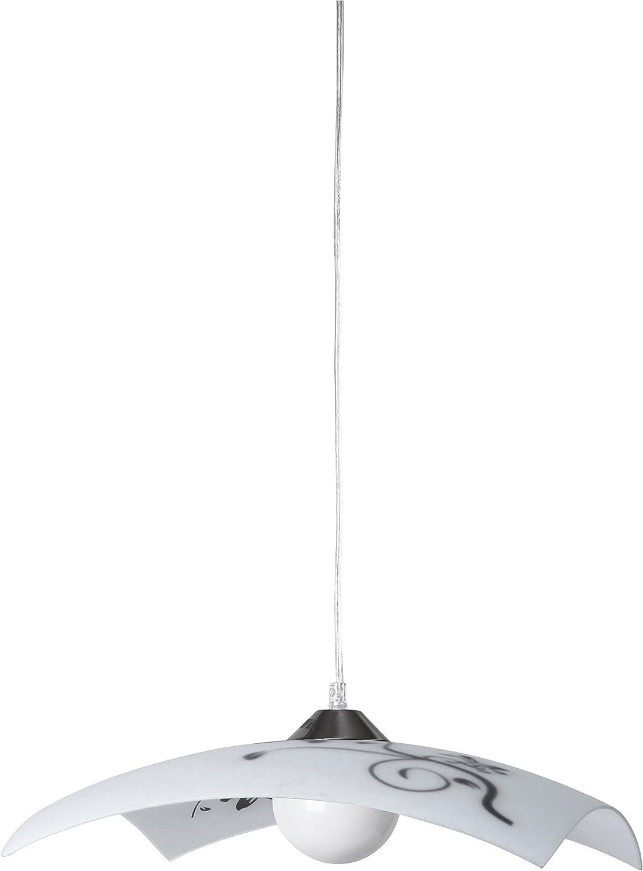 E14 Glas 1-flammig RABALUX Wandspot Silber