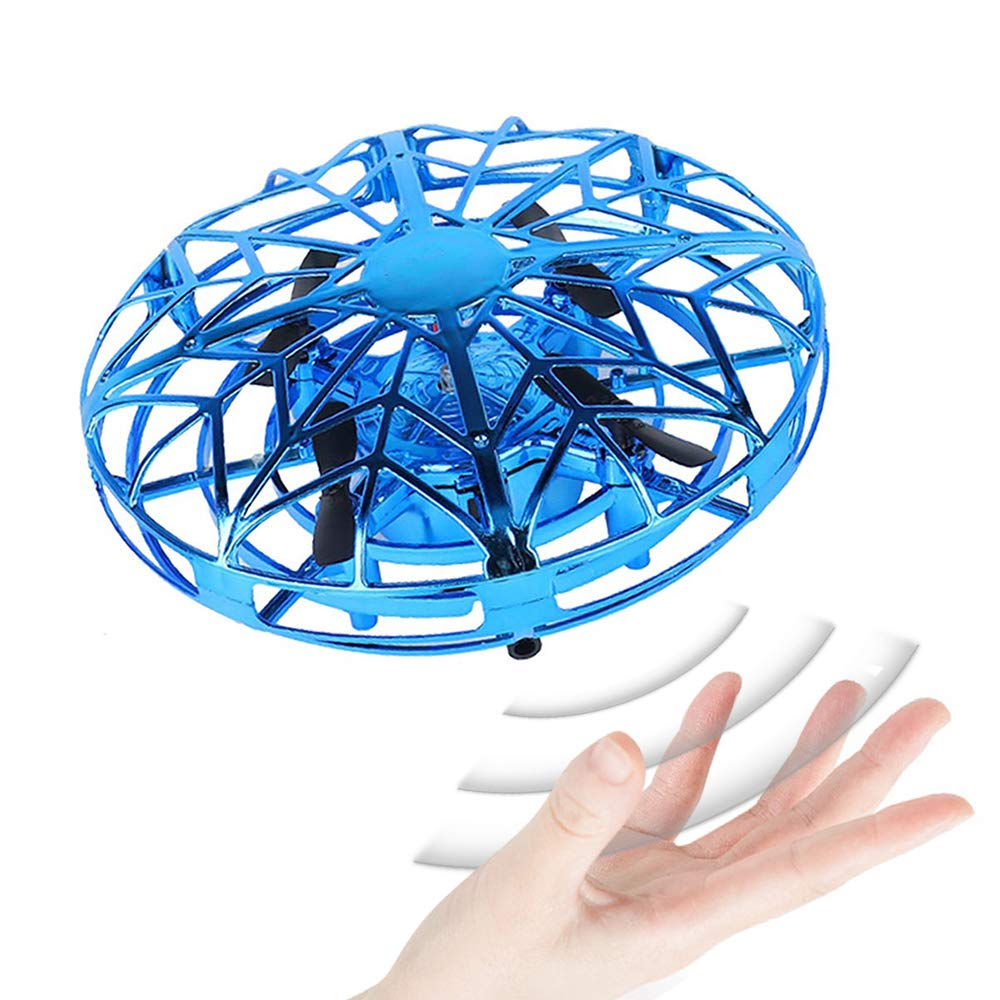 KIMMI Gift for 4-11 Year Old Boys, UFO Flying Ball Drone Toy for 7-14 Year Old Boy Teen Flying Toy Gift for 6-8 Year Old Kids Boy Birthday Present Toy Gift Age 4-12 Boy