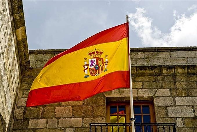 Amison Bandera España Grande, 2pcs Bandera de España, Resistente a la Intemperie, 90 x 150 cm: Amazon.es: Hogar
