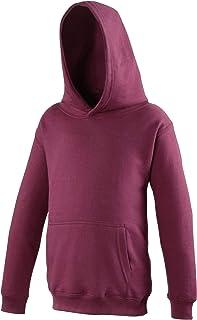 Awdis Kinder Unisex Kapuzen Pullover (12-13 Jahre) (Burgunder) UTRW169_81
