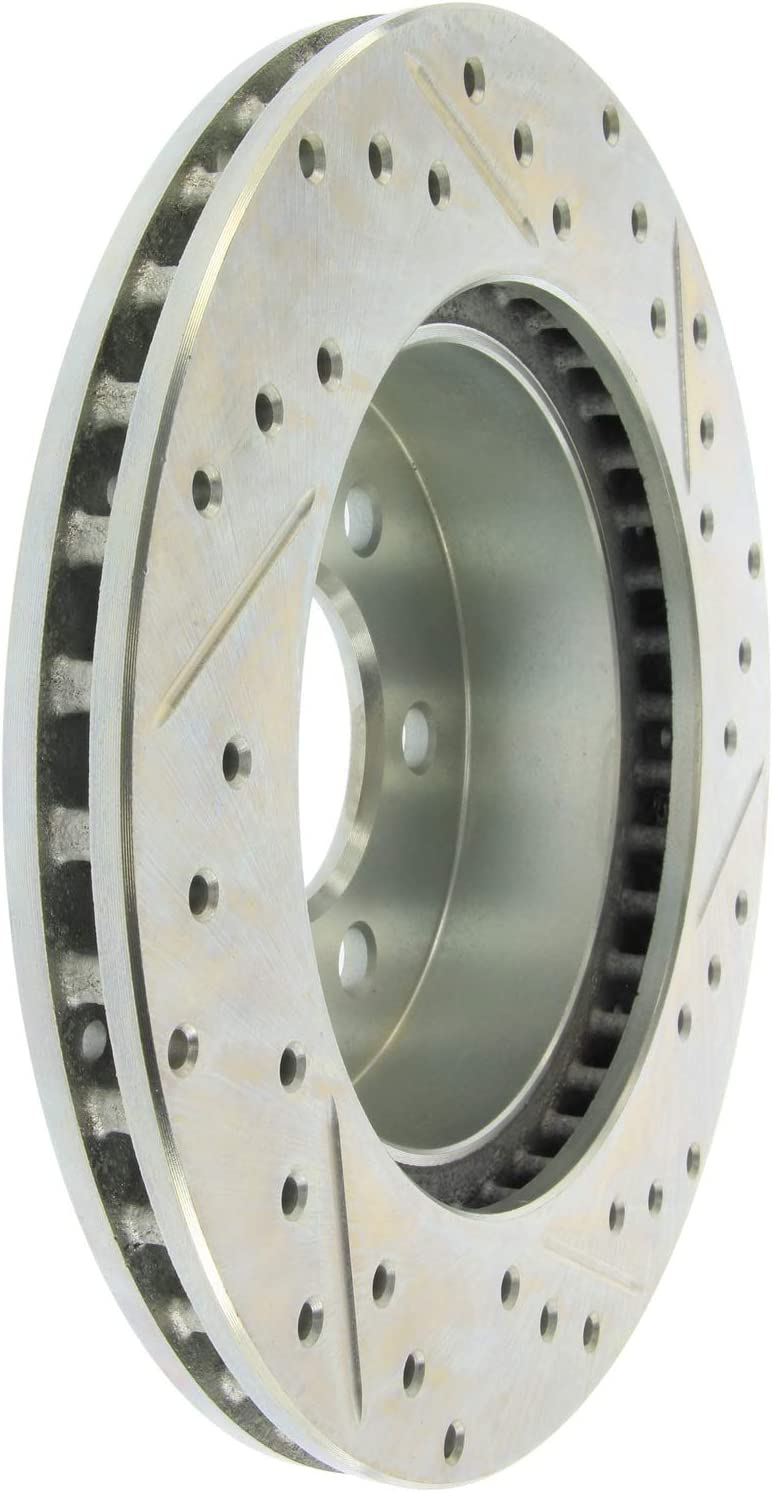 StopTech 227.40036R Select Sport Drilled and Slotted Brake Rotor; Front Right