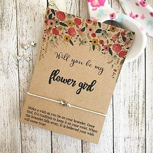 Flower Girl Wedding Gifts: Amazon.com: Will You Be My Flower Girl, Wish Bracelet