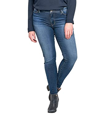 074a70ac7e1df Silver Jeans Women s Plus Size Bleecker Mid-Rise Jeggings at Amazon ...