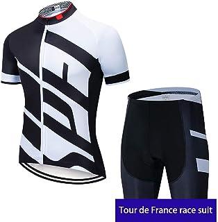 irugh Maillots de Ciclismo Hombres Camiseta y Pantalones Cortos de Ciclismo Conjunto de Ropa para Ciclismo al Aire Libre