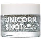 Unicorn Snot Holographic Body Glitter Gel - Vegan & Cruelty Free - Gift - Festival - Rave - Costume (50 ml)(Silver)