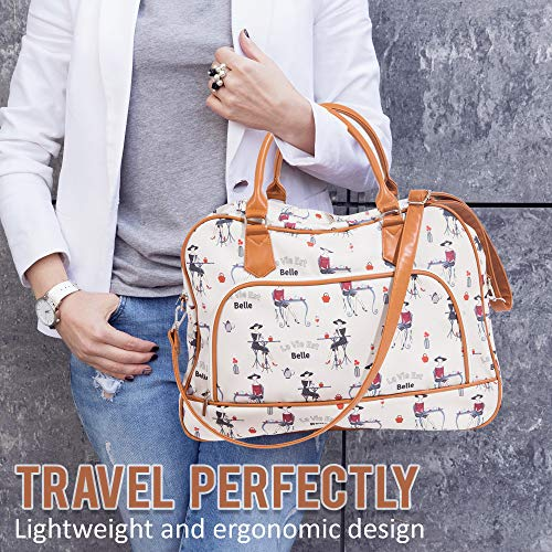 Canvas Weekender Bags For Women: Travel Duffle Tote Bag. Elegant Weekend/Overnight Travel Bag Or Totes - Extra Large 20'' by 13'' by Summerease (Image #6)