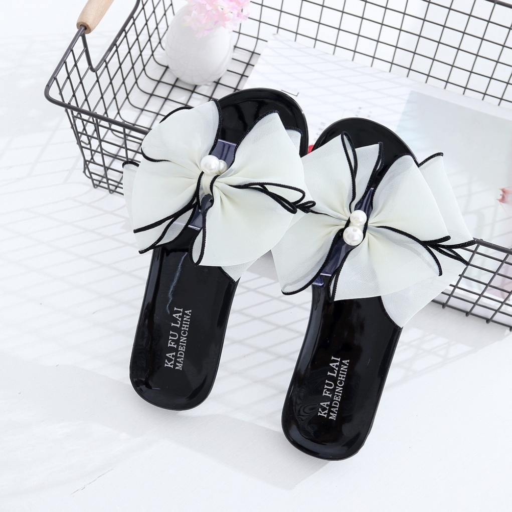 Womail Women Summer Flower Slippers Fashion Beach Shoes Open Peep-Toe Sandals