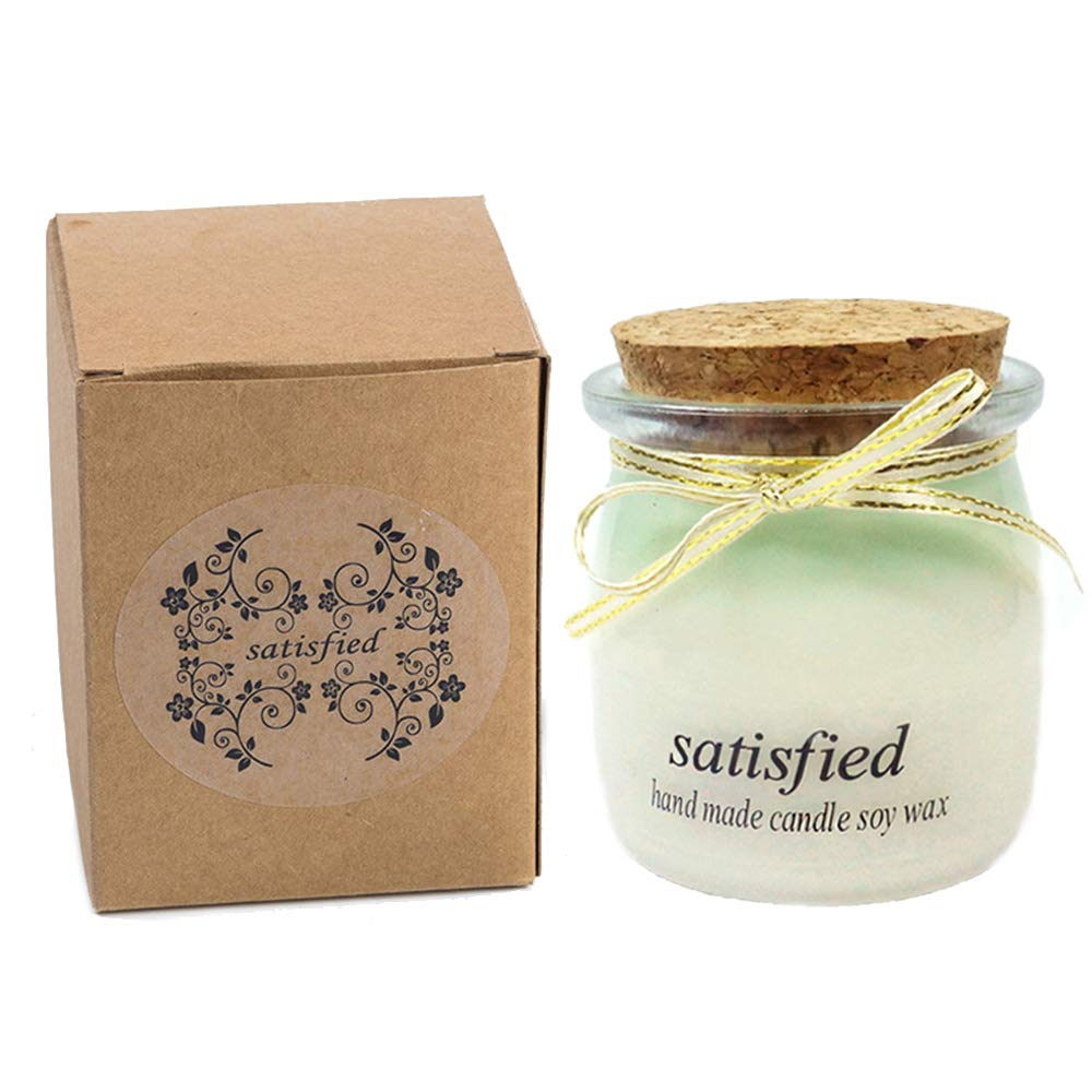 Long Lasting Natural Soy Wax Scented Candle Green Forest Fragrance