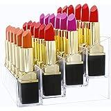 Mobengo porta rossetto, in acrilico trasparente lip Gloss Lipstick supporto di visualizzazione rack Holder makeup organizer, 24 slot