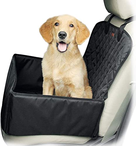 Yitour Dog Front Car Seat Covers - Dog Single Pet Seat Cover Seatbelt for SUV Van 100 Return Guarantee ,Waterproof Protector Black Back Rear Dog Truck Booster Seat Cover,Vehicle Back Booster Carrier