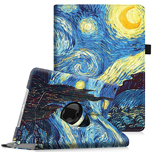 Fintie iPad Mini 4 Case - 360 Degree Rotating Stand Case with Smart Cover Auto Sleep/Wake Feature for Apple iPad Mini 4 (2015 Release), Starry Night