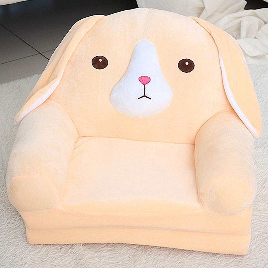 Child Armchair, Sofa Kid Cartoon Girl and Boy Birthday Gift Toy Lazy Padded Cute Baby Small Sofa Seat Chair Baby Washable (Color : Rose, Size : 50cmX40cmX47cm)