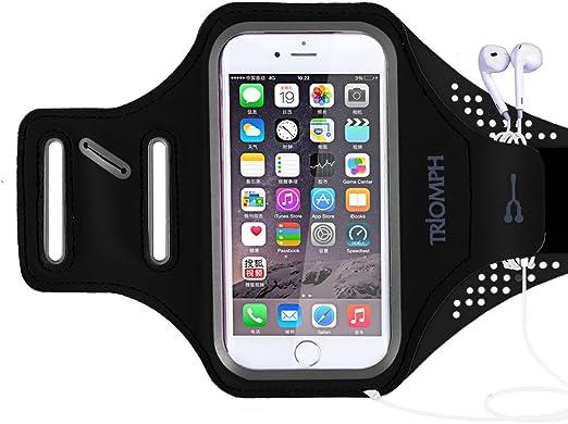 Triomph Brassard pour iPhone 7, iPhone 6S/6, iPod, Samsung Galaxy S6/S6 Edge S5 avec protection d'écran et porte-cartes, porte-monnaie, pour la ...