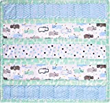 Minky Wee Ones Handsome Hippo Cuddle Kit Quilt Kit Shannon Fabrics
