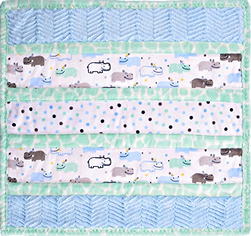 Minky Wee Ones Handsome Hippo Cuddle Kit Quilt Kit Shannon Fabrics by Shannon Fabrics