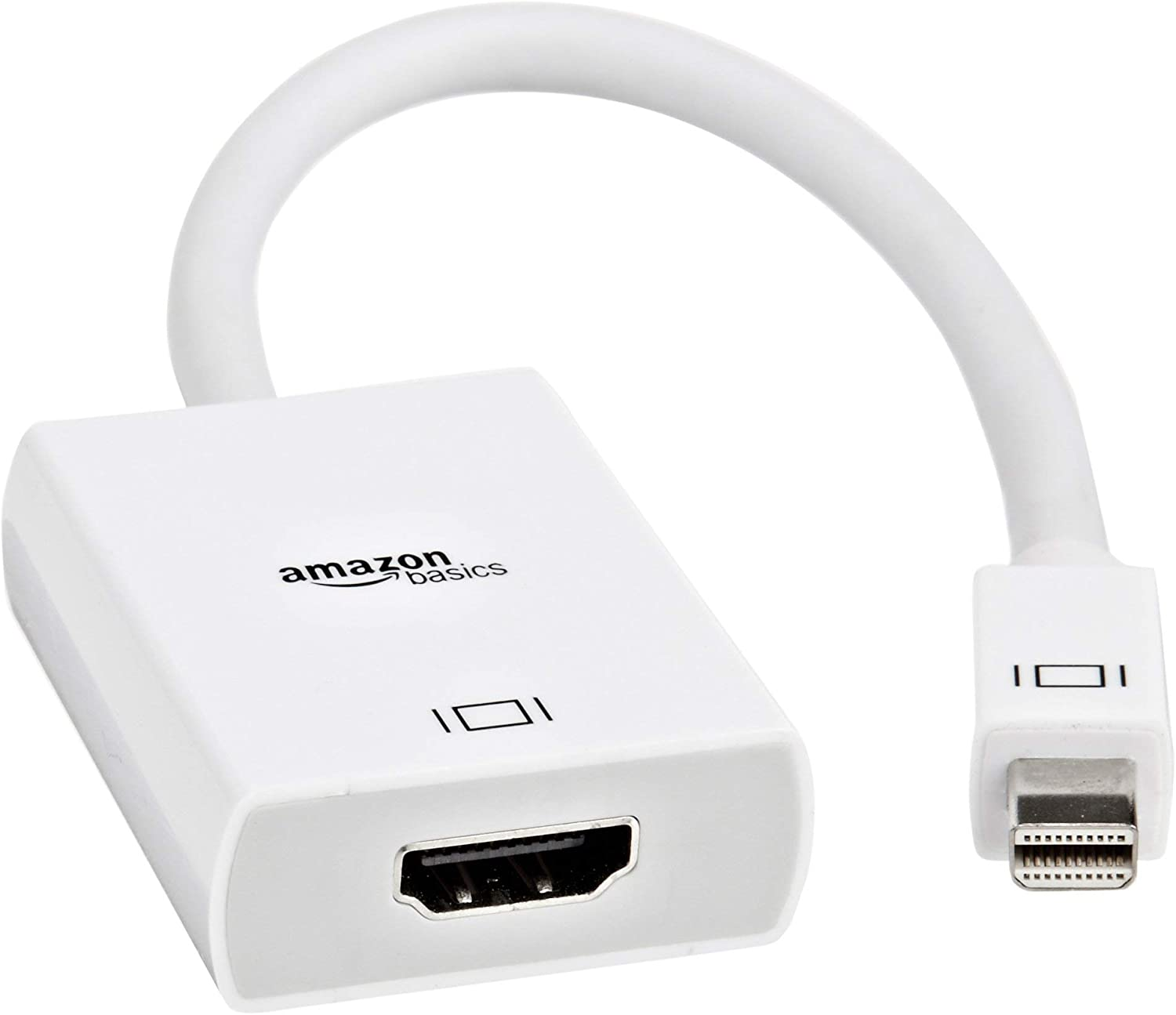 AmazonBasics Mini DisplayPort (Thunderbolt) to HDMI Adapter (Renewed)