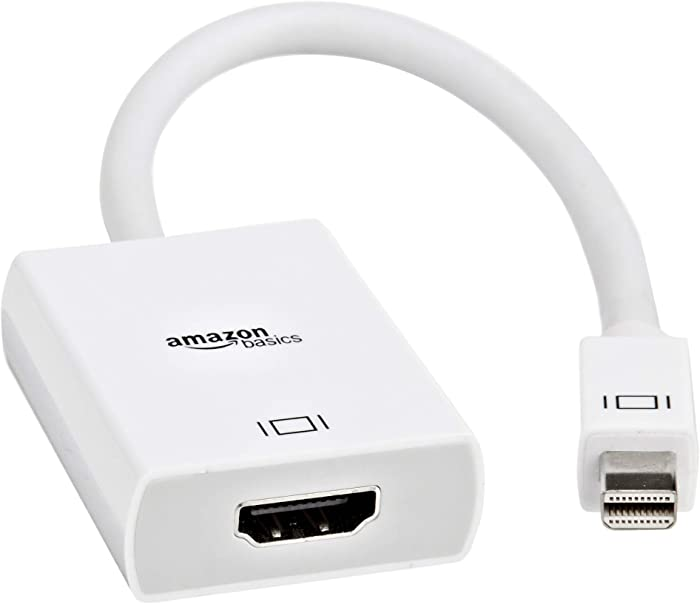 AmazonBasics Mini DisplayPort (Thunderbolt) to HDMI Adapter (Renewed)