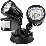 LOFTEK LED Security Light, 26W Motion Sensor Spotlight, 2650lm (200W Equivalent), Adjustable head Floodlight, 180 Degree Detection Beam Angle , IP65 Protection Rating Aluminum & Iron Body, 5500K