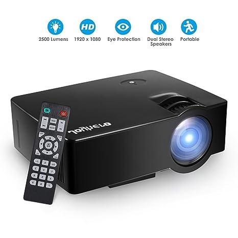Proyector Videoproyector FullHD 2200 lúmenes Joyhero, Mini ...