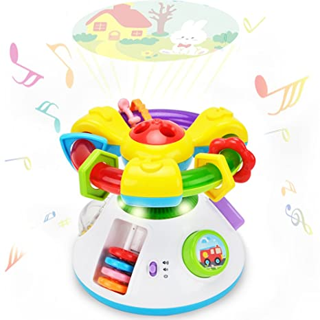 6683f053dabb Baby Projection Lullaby Musical Toy - Happytime Baby Music 2 in 1  Projection Cartoon Projector Night