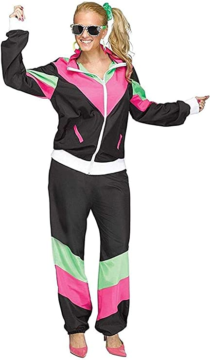 80s Costumes, Outfit Ideas- Girls and Guys Fun World 80s Sweat Suit Womens Adult Costume $32.95 AT vintagedancer.com