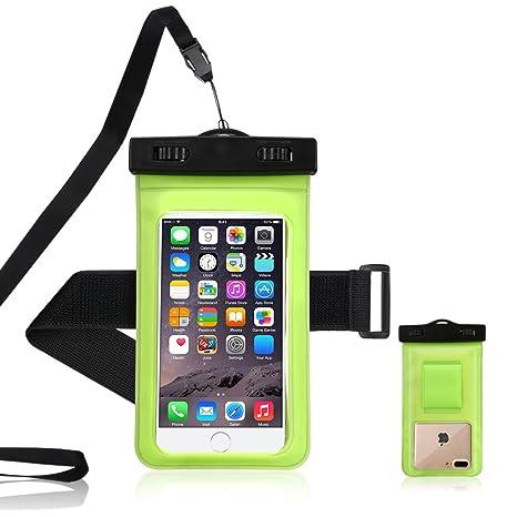 e5718a5a572 Funda Impermeable Teléfono, RosyHeart Transparente Bolsa Smartphone  Impermeable con Brazo Deportivo Banda, Universal Waterproof Cover Funda ...