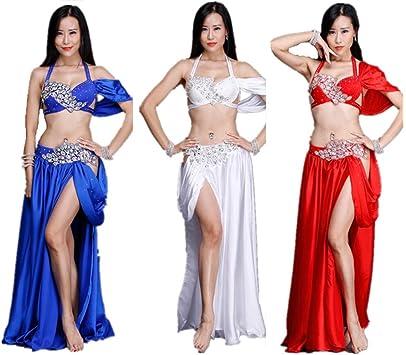 Shinyou ropa de danza del vientre falda danza oriental, Rouge (M ...