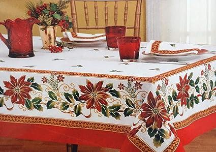 fb4f6cb506 Elegante e Facile da Pulire Tovaglia Natalizia in Stile Europeo per la casa Tovaglia  Natalizia Tovaglia Rettangolare per la casa di Natale: Amazon.it: Casa ...