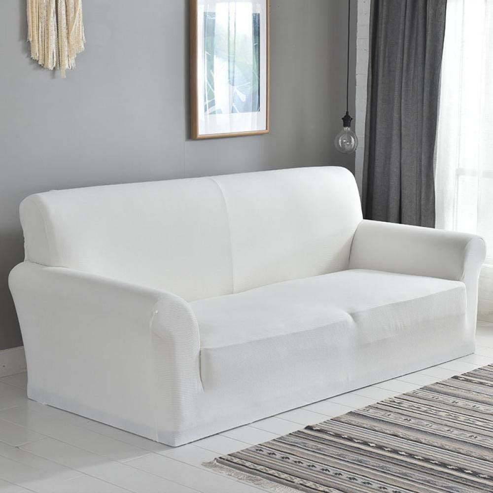 Fundas De Sofa Anti Gatos Funda De Sofá De Pana Cubierta De Sofá Universal De Rayas Gruesas Juego De Sofá Deslizante Antideslizante De 1/2/3/4 Asiento Adecuado Para Sala De Estar @ White
