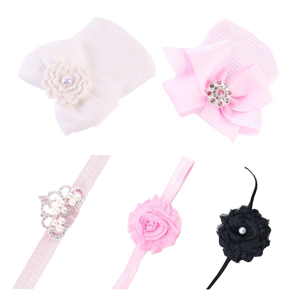 JMITHA Bambino fascia Fasce di fiore della neonata Cerchietto elastico Accessori per capelli a fiori HB-VAR-08