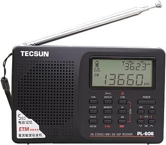 Tecsun PL-606 Digital PLL Portable AM/FM Shortwave Radio with DSP, Black