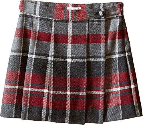 Dolce & Gabbana Kids Girls' Back To School Quadricheck Tartan Skirt (Little Kids), Red Print, 4T Toddler by Dolce & Gabbana