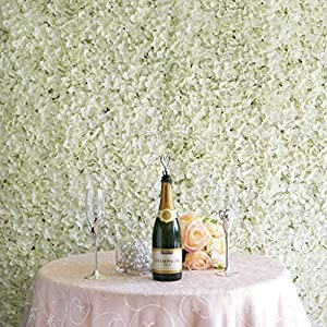 4 Panels - UV Protected Blush Hydrangea Flower Wall DIY Wedding Party Backdrop Cream Party Decoration tokochaircover 81