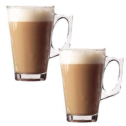 Vasos Taylor & Brown® para café con leche Té Café Cappuccino Tazas de cristal