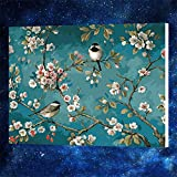 [WOODEN FRAME] Diy Oil Painting Paint by Number Kit for Adult Kids - Like Birds In the Branches 16X20 Inch