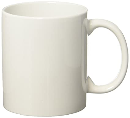 9540939cd2 Amazon.com: Momugs 12 oz Cup, Plain Gloss White Ceramic Coffee Mug for Milk  Tea: Kitchen & Dining