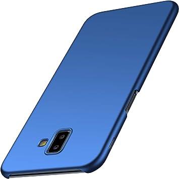 Anccer Funda para Samsung Galaxy J6 Plus [Serie Colorida] [Ultra-Delgado] [Ligera] Anti-rasguños Estuche para Galaxy J6 Plus (Azul Liso): Amazon.es: Electrónica