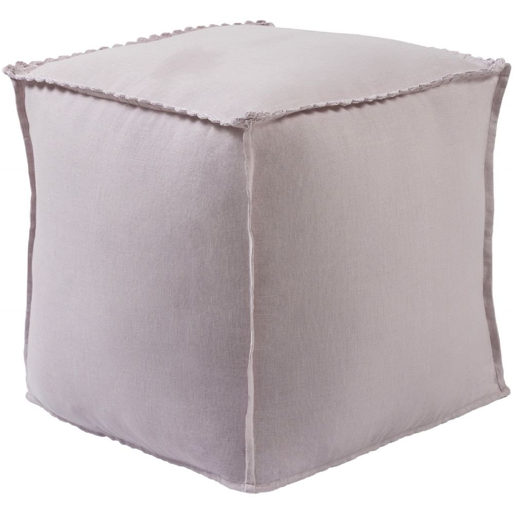 Surya Kids Square pouf/ottoman 18''x18''x18'' in Mauve Color From Evelyn Collection